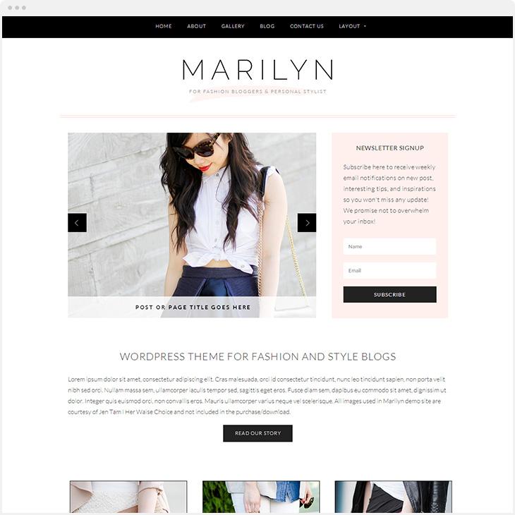 Marilyn WordPress blog theme