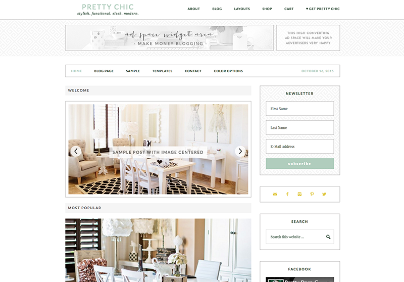 Pretty Chic WordPress blog theme