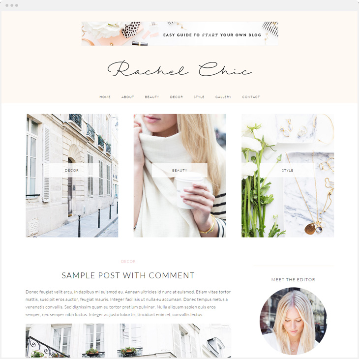 Rachel WordPress blog theme
