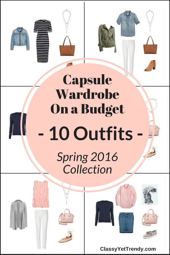 The Essential Capsule Wardrobe: Spring 2016 Collection - 10 Outfits