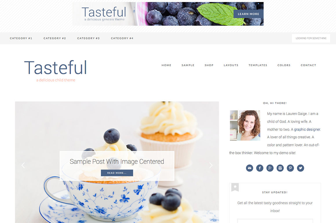 Tasteful WordPress blog theme