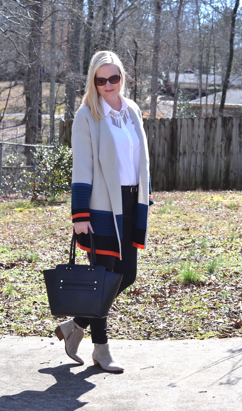 Cozy Colorblock Cardigan
