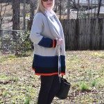 Cozy Colorblock Cardigan (Trendy Wednesday Link-up #60)