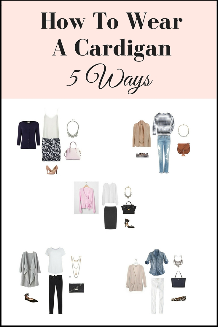 how to wear a cardigan 5 ways pin
