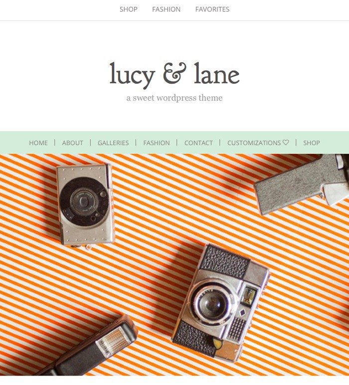 Lucy & Lane WordPress blog theme