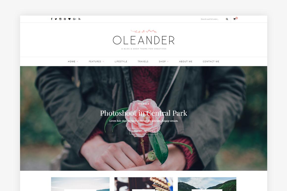 Oleander WordPress blog theme