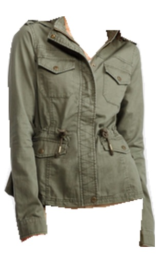 olive twill jacket