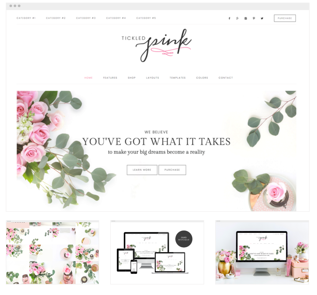 Tickled Pink Restored316 Theme