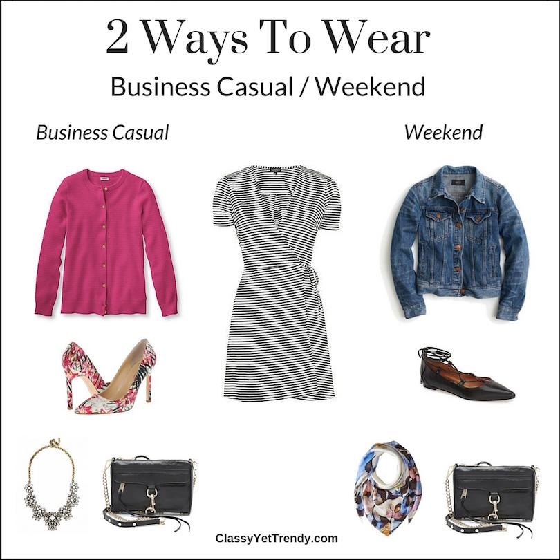 2 ways to wear striped dress
