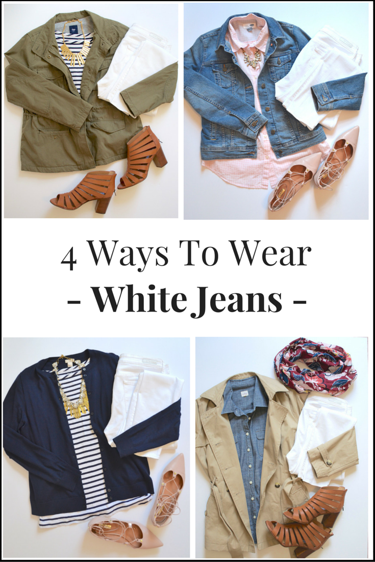 4 Ways To Wear White Jeans