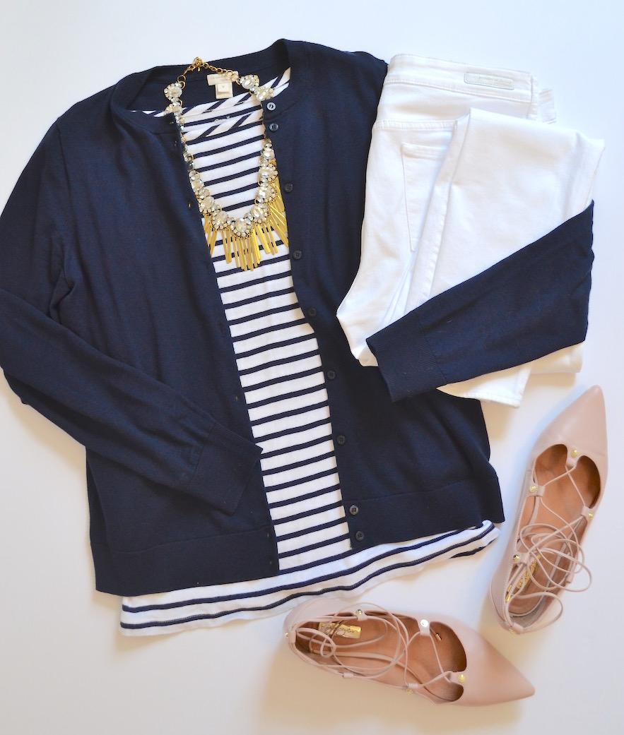 4 ways to wear white jeans 4