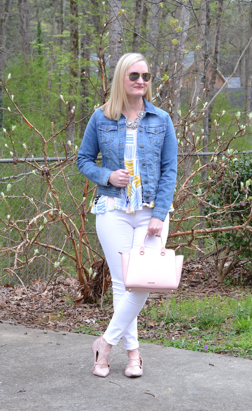 Denim, White & Blush (Trendy Wednesday Link-up #66)