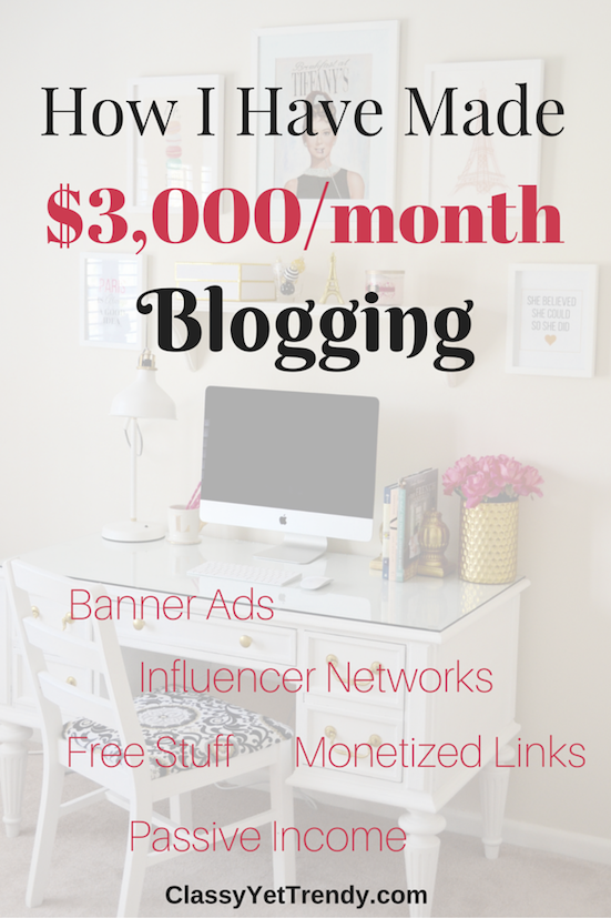 How I Have Made $3,000 Month Blogging