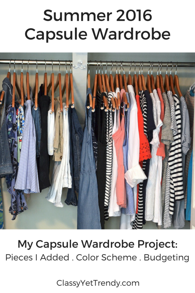 2016 Summer Capsule Wardrobe cover