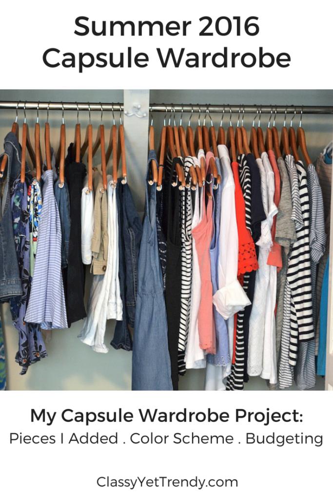 2016 Summer Capsule Wardrobe cover