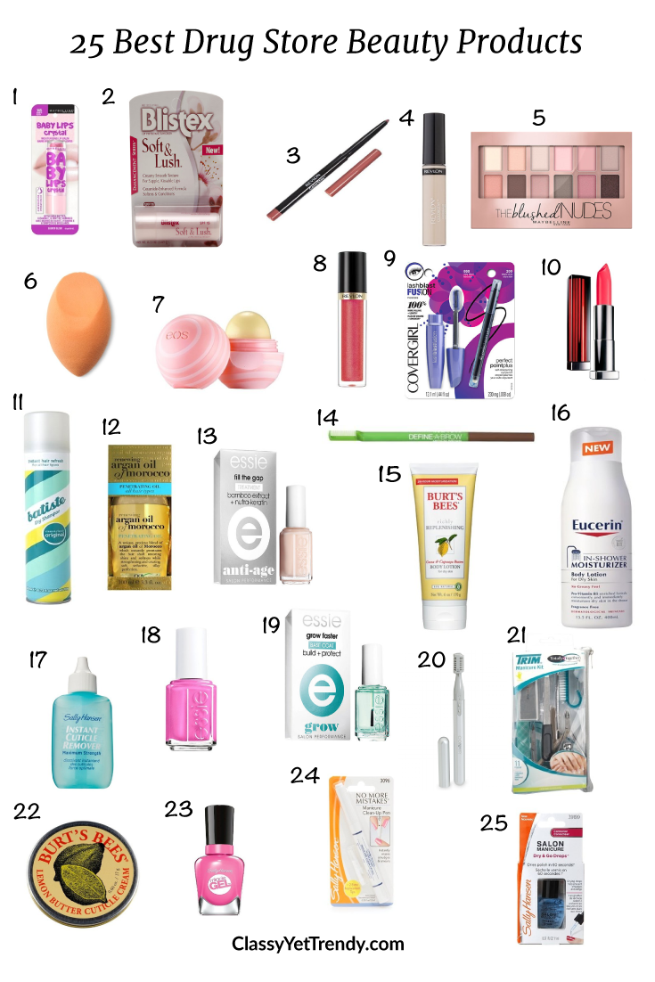 25 Best Drugstore Beauty Products