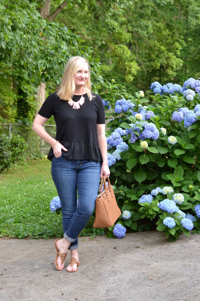 black ruffles and denim 1