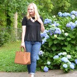 Black, Ruffles and Denim (Trendy Wednesday Link-up #74)