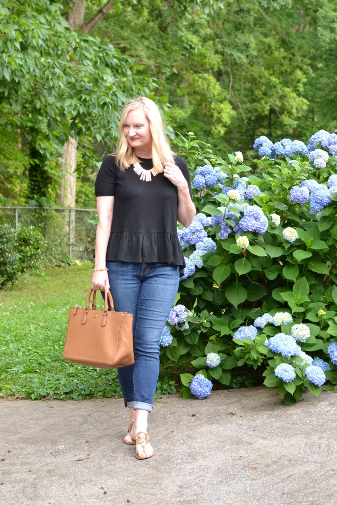 black ruffles and denim 4