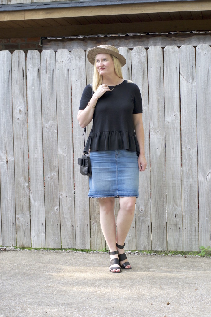 Ruffles and Frayed Denim 2