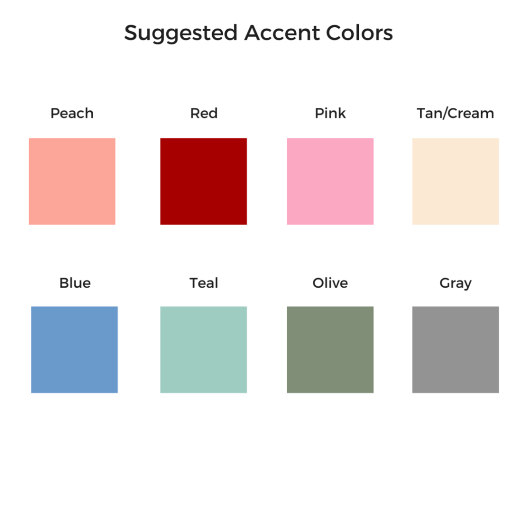 Suggested Accent Colors