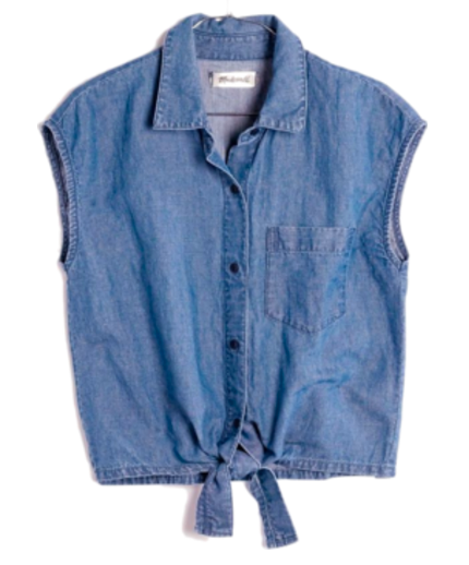TOP - CHAMBRAY TIE