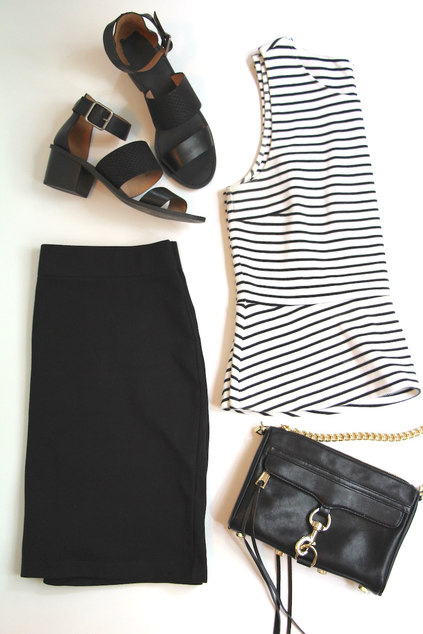 10 Ways To Wear A Black Skirt - Outfit 1
