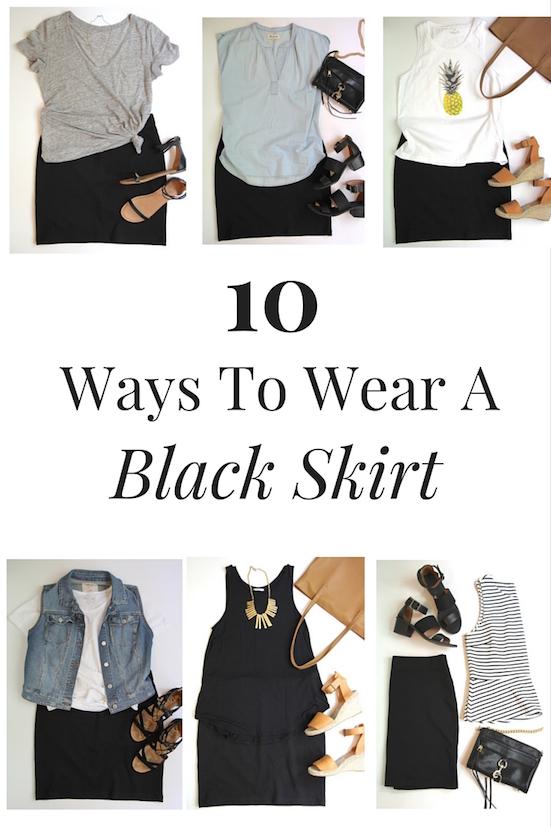 10 Ways To Wear A Black Skirt