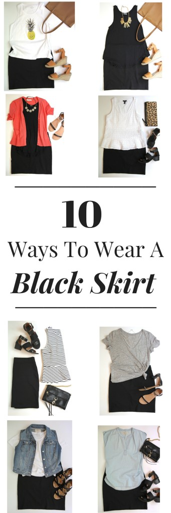 10 Ways To Wear a Black Skirt_