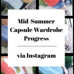 Summer Capsule Wardrobe via Instagram (Trendy Wednesday Link-up #79)