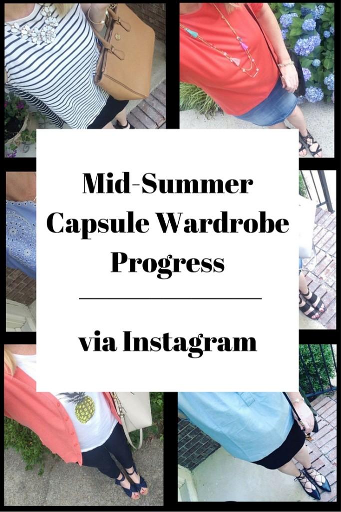 My Mid-Summer Capsule  Wardrobe Progress via Instagram
