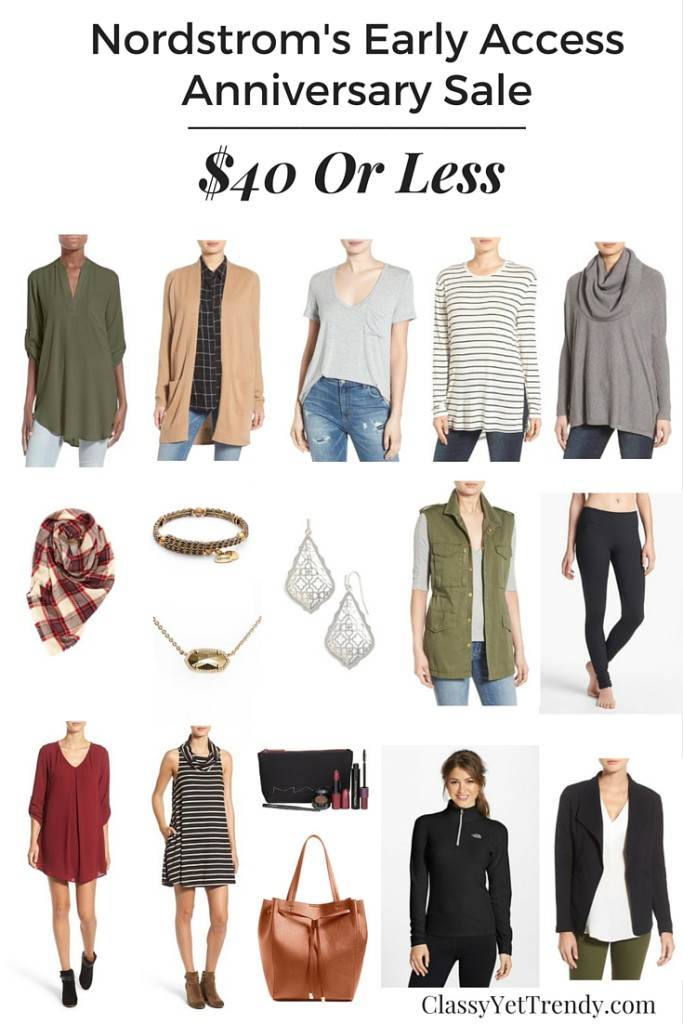 Nordstrom's Early Access Anniversary Sale $40 or less