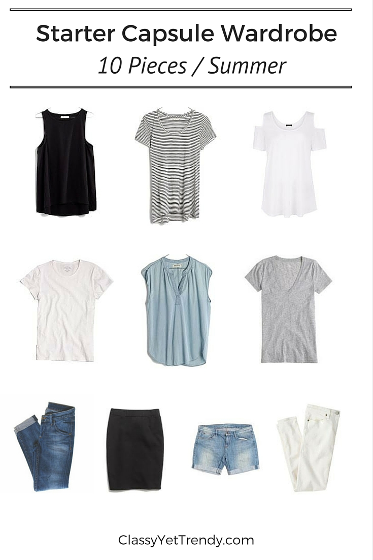 Starter Capsule Wardrobe Summer 10 Clothes