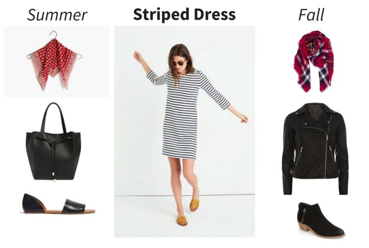 Wear Now, Wear Later - Striped Dress outfit 1