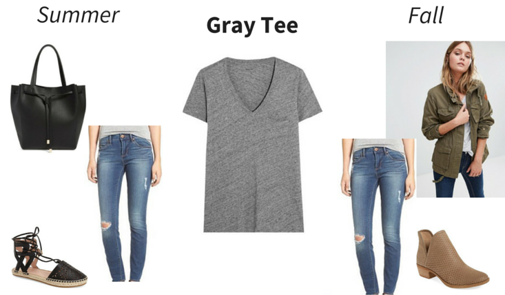 Wear Now, Wear Later - Gray Tee outfit 2