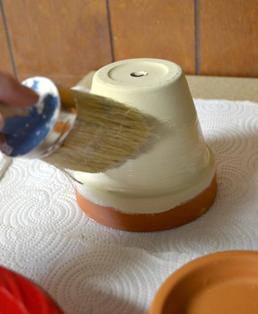 succulents chalk paint pots 3