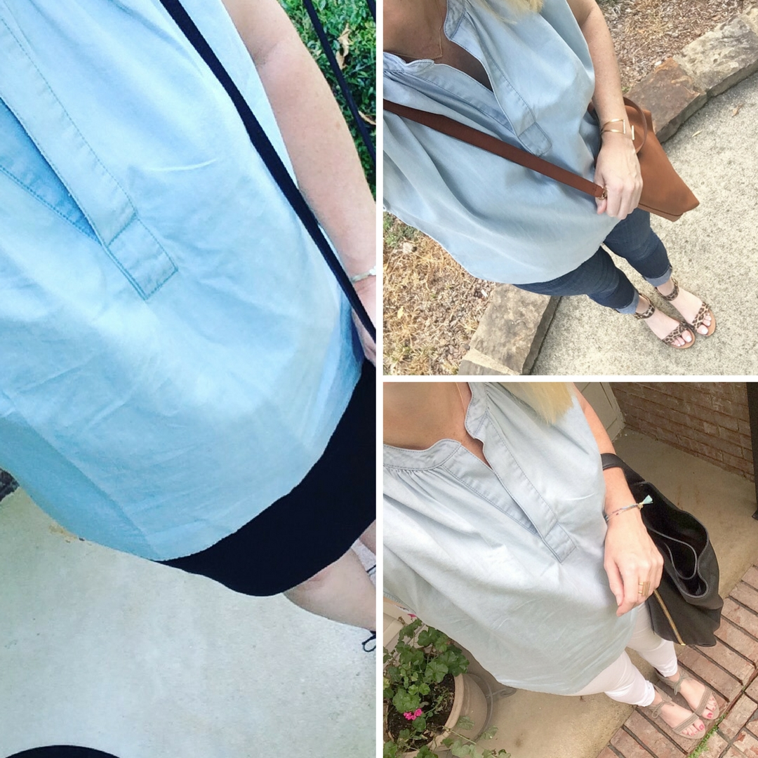 3 Ways To Wear A Chambray Top (Trendy Wednesday Link-up #83)