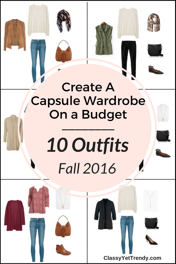 Create a Fall 2016 Capsue Wardrobe On a Budget 10 Outfits