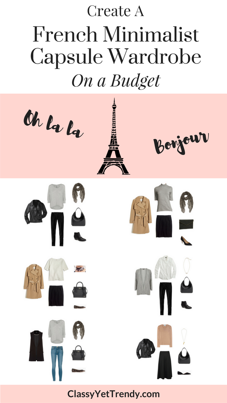 The French Minimalist Capsule Wardrobe Winter 2018 2019: Create A French Minimalist Capsule Wardrobe On A Budget