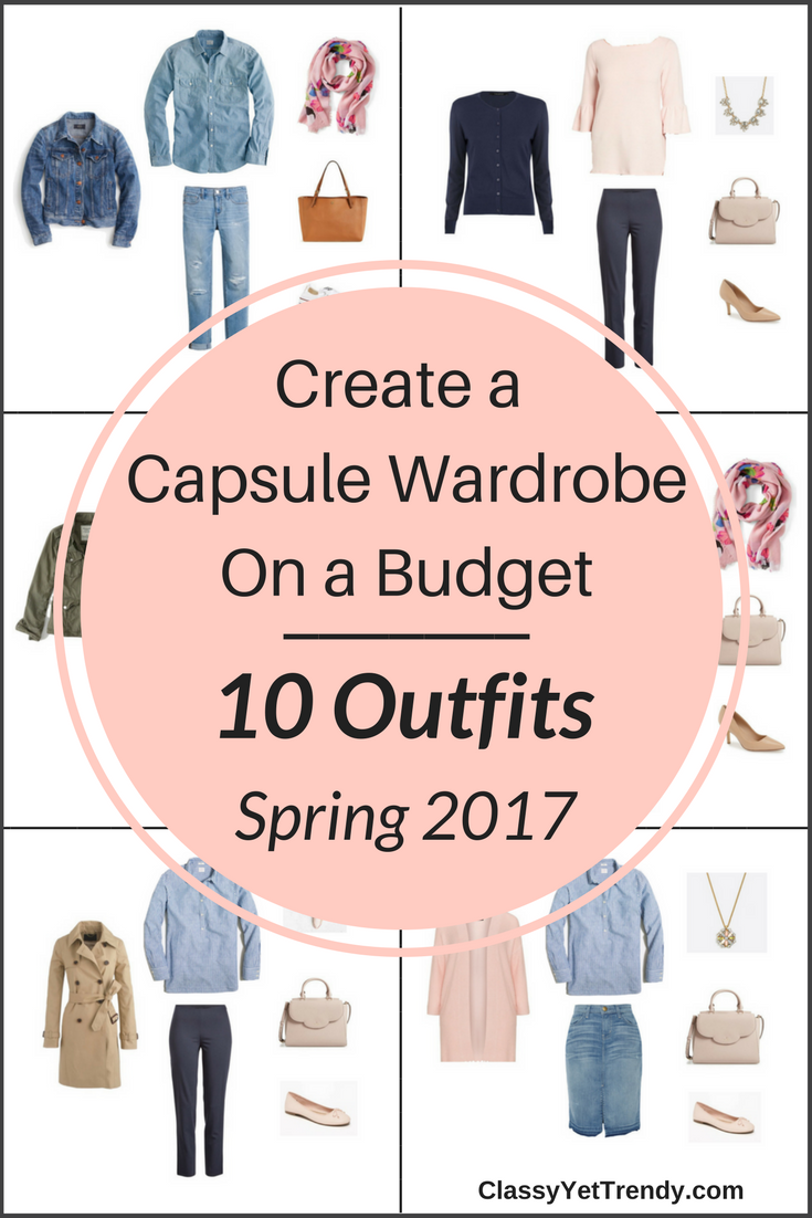 Essential Capsule Wardrobe On a Budget- 10 Spring Outfits