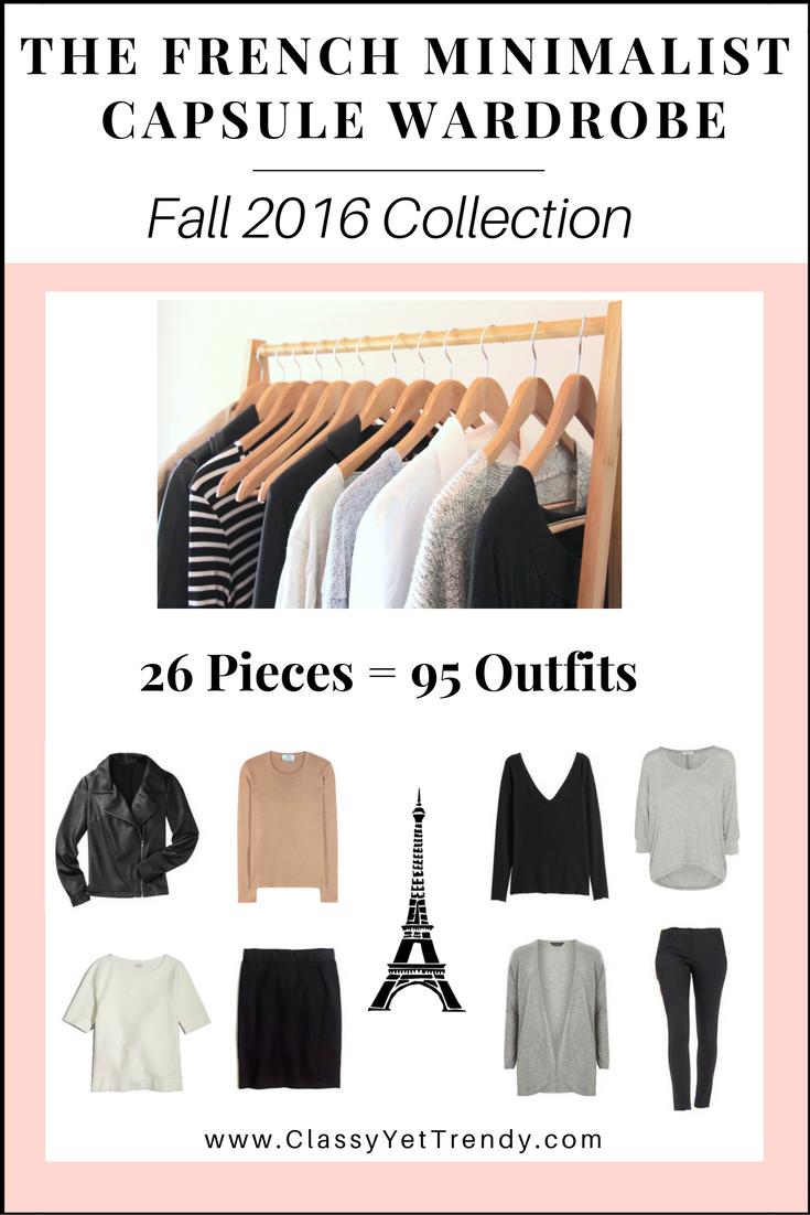 The French Minimalist Capsule Wardrobe E-Book: Fall 2016