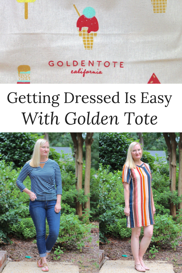 Getting Dressed Is Easy With Golden Tote