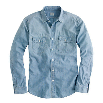 TOP - chambray shirt