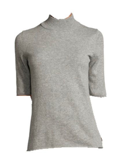 TOP - gray mock neck sweater