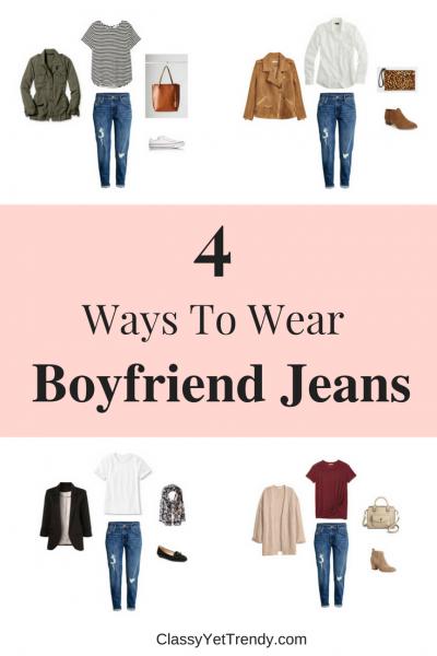4 Ways To Wear Slim Boyfriend Jeans