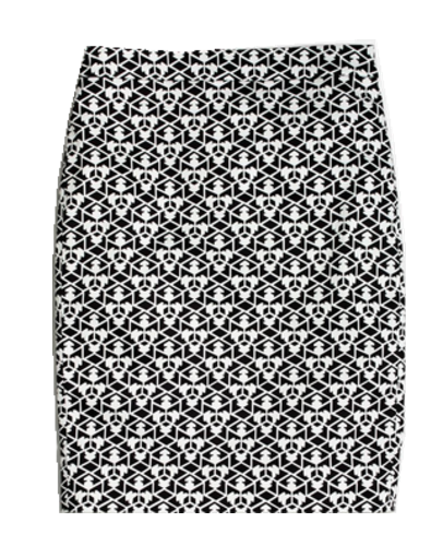 bottom-black-print-skirt