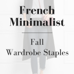 French Minimalist Fall Wardrobe Staples (Trendy Wednesday #91)
