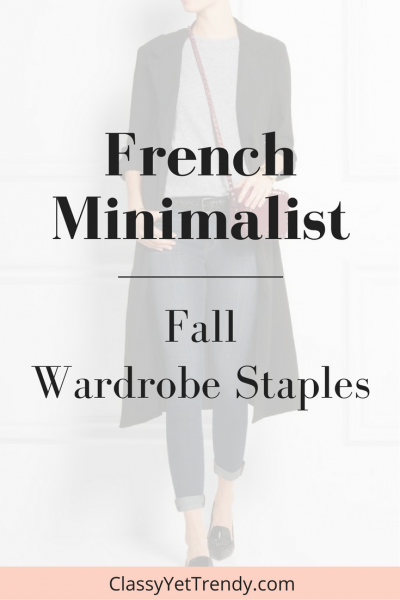French Minimalist Wardrobe Staples