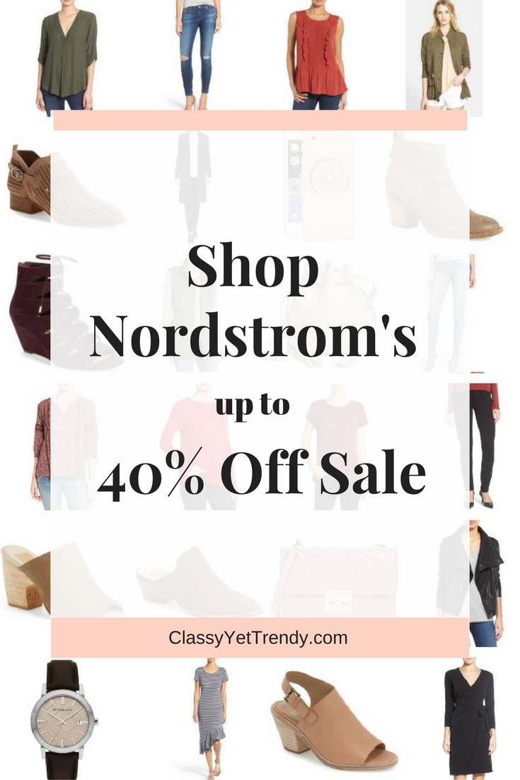 Nordstrom Up To 40 Off Sale
