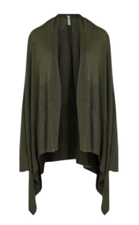 top-olive-cardigan